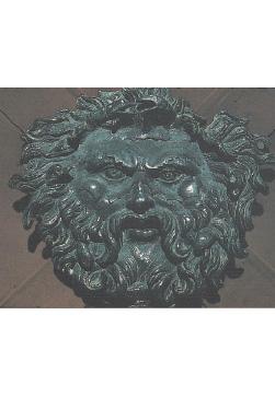 Aplique de bronce representando a Océano