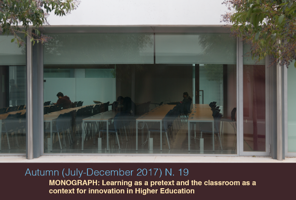 n. 19. Monograph: Learning as a pretext and the classroom as a context for innovation in Higher Education